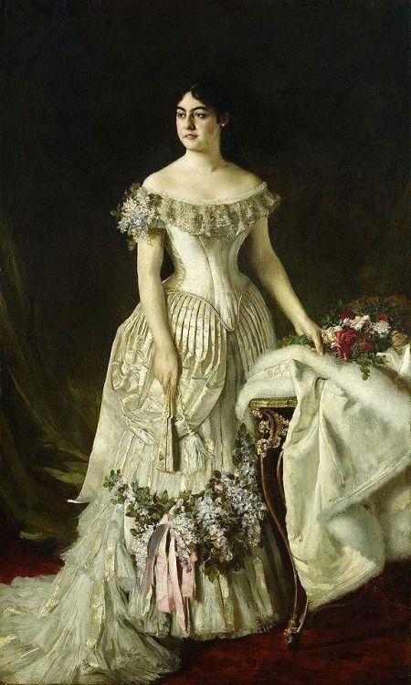 Queen Natalija Obrenovic - Vlaho Bukovac  1882:
