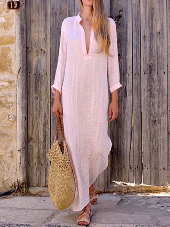 Vestido de linho para arrasar! #vestidos #vestidoslinho #modalinho #dicasdelooks #modaebeleza #modaparaarrasar  #look #inspirações