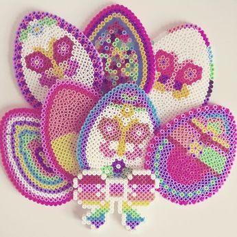 Easter eggs hama beads by livresetmerveilles