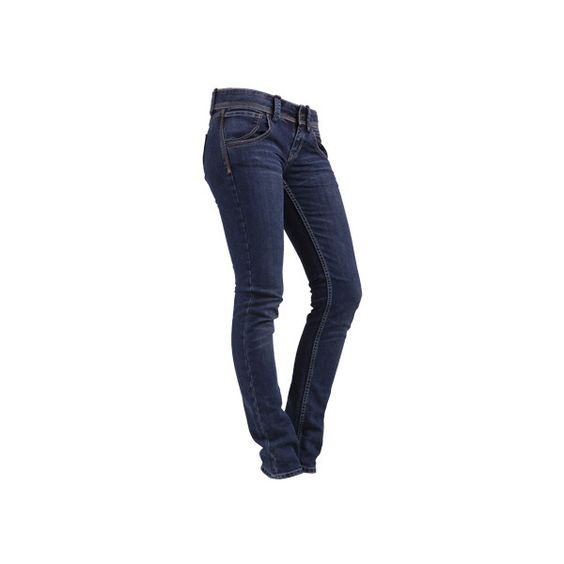TYRA Dunkelblaue Röhrenjeans (180 BRL) ❤ liked on Polyvore featuring jeans, pants, bottoms, calças, pantaloni, fornarina, blue jeans and fornarina jeans
