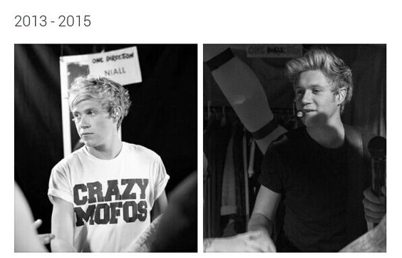 He doesn't look that different actually lol Niall never ages