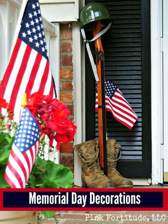 Memorial day decorations and decoration on