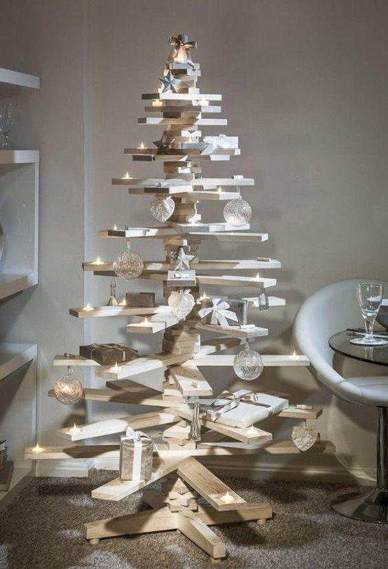 Ideas DIY, Arboles de Navidad en madera  #palets #pallets #palletfurniture #palletwood