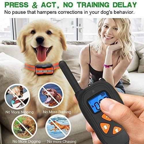 Dog Training Collar 1475ft Remote Dog Shock Collar Dog Training