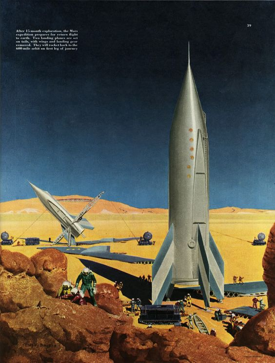 Retro Futurism Fred Freeman Exploring Mars By Fred