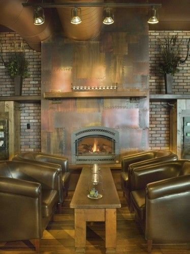 That fireplace is killer!