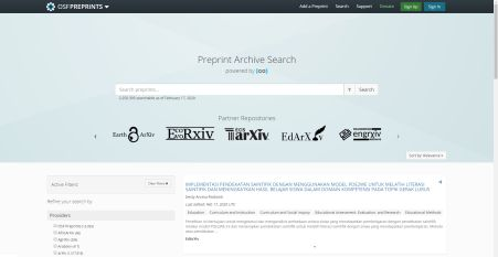 Preprint Archive Search: un discovery para todos os preprints del proyecto OSF | Universo Abierto