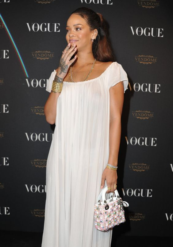 Rihanna – Vogue 95th Anniversary Party in Paris 03.10.15