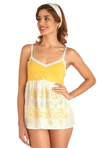 Bedside Blossoms Sleep Top and Undies Set, #ModCloth