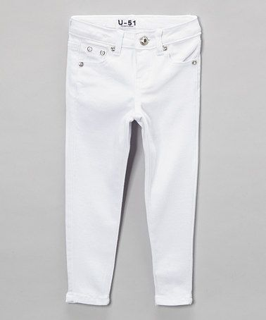 Love this White Jeans - Toddler & Girls by Neeso Jeans on #zulily ...