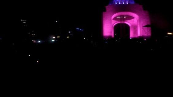 Rodada nocturna #CDMX #Mexico #PaisajeDFeño #PaisajeUrbano #GoPro #Pink #MonumentoalaRevolucion #Bike #EnBici by andinobrito