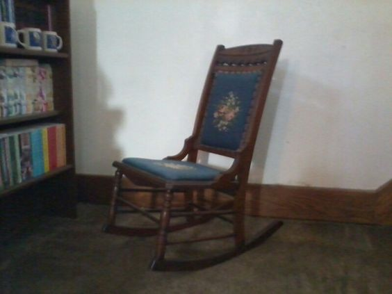 Embroidered Cushion Rocking Chair
