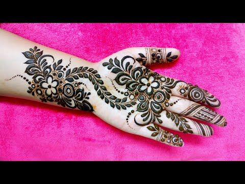 easy and beautiful mehndi designs for front hand full