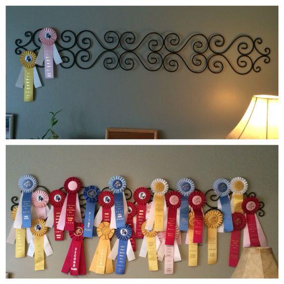 Horse ribbon display