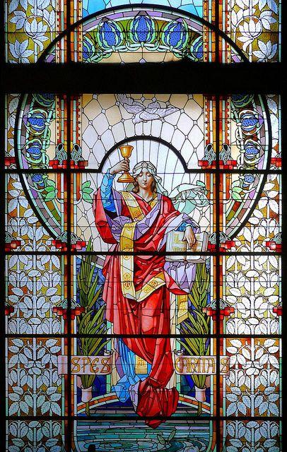 Stained glass - Barcelona - Diagonal, Spain by Arnim Schulz: