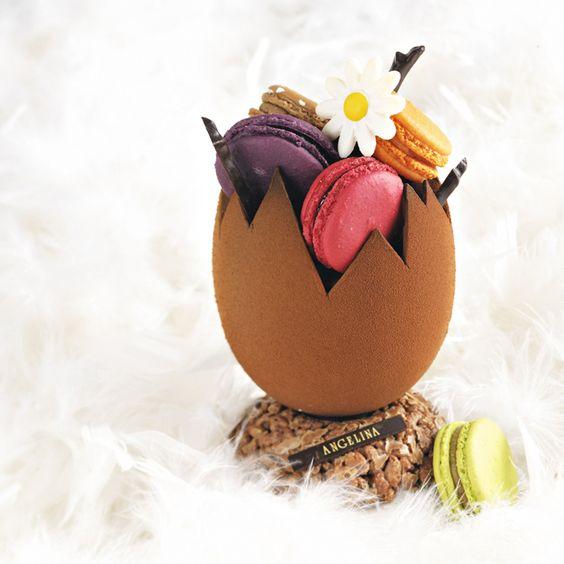 Bientôt Pâques ! L'oeuf de Pâques en chocolat se met dans tous ses états - OEuf gourmand de Printemps - AngelinaPrix : 49 ?www.angelina-paris.fr
