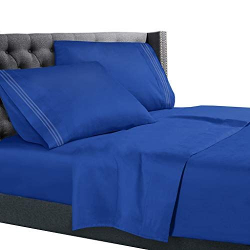The Best Quality Bed Sheets Bedding Set On Amazon Deep Pockets Fitted Sheet 100 Luxury Soft Microfiber Hypoall Bed Sheet Sets Bed Sheets King Size Bed Sheets