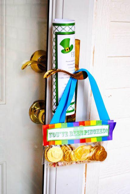 You've Been Pinched! Great door hanger or friend gift.