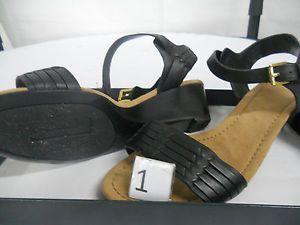 Lauren Ralph Lauren Women'S Latrice Wedge Sandal, Black Burnished Vachetta, 8 B