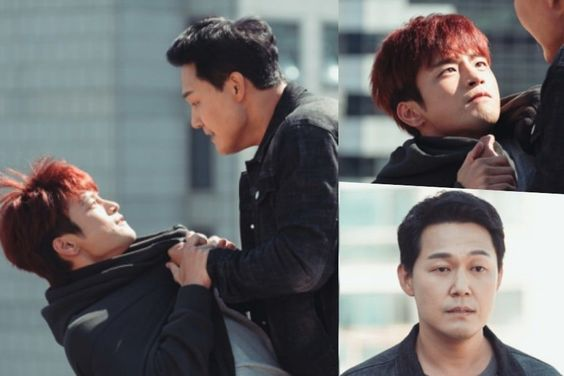 """Seo In Guk And Park Sung Woong Get Physical For """"The Smile Has Left Your Eyes"""""""