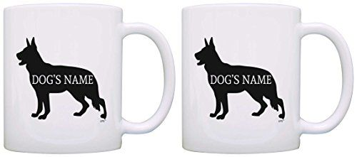 Custom German Shepherd Gifts Add Dogs Name Personalized 2 Pack