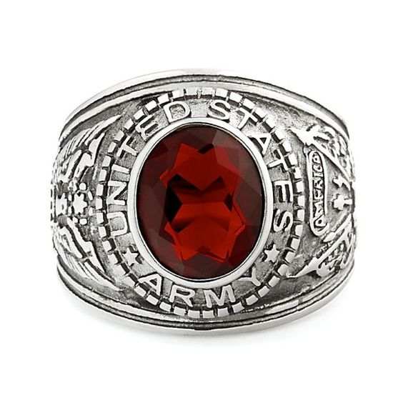 316L Stainless Steel 5.0 carats Siam Ruby Ice CZ by 1000jewels