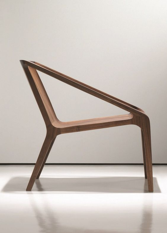 Wooden easy #chair with armrests LOFT by NURUS | #design Shelly Shelly #wood More