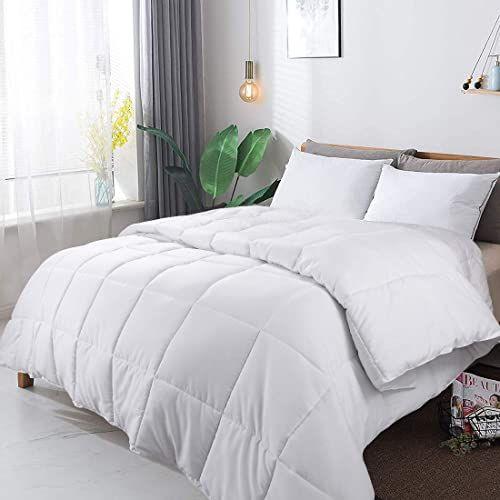 White Ultra Soft Down Alternative Comforter All Season Quilted Duvet Insert