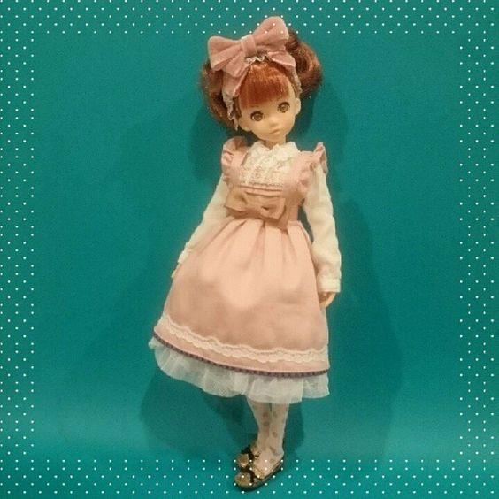 Strawberry chocolate dress set 苺チョコレートdress setrurukoも着れました  #ruruko