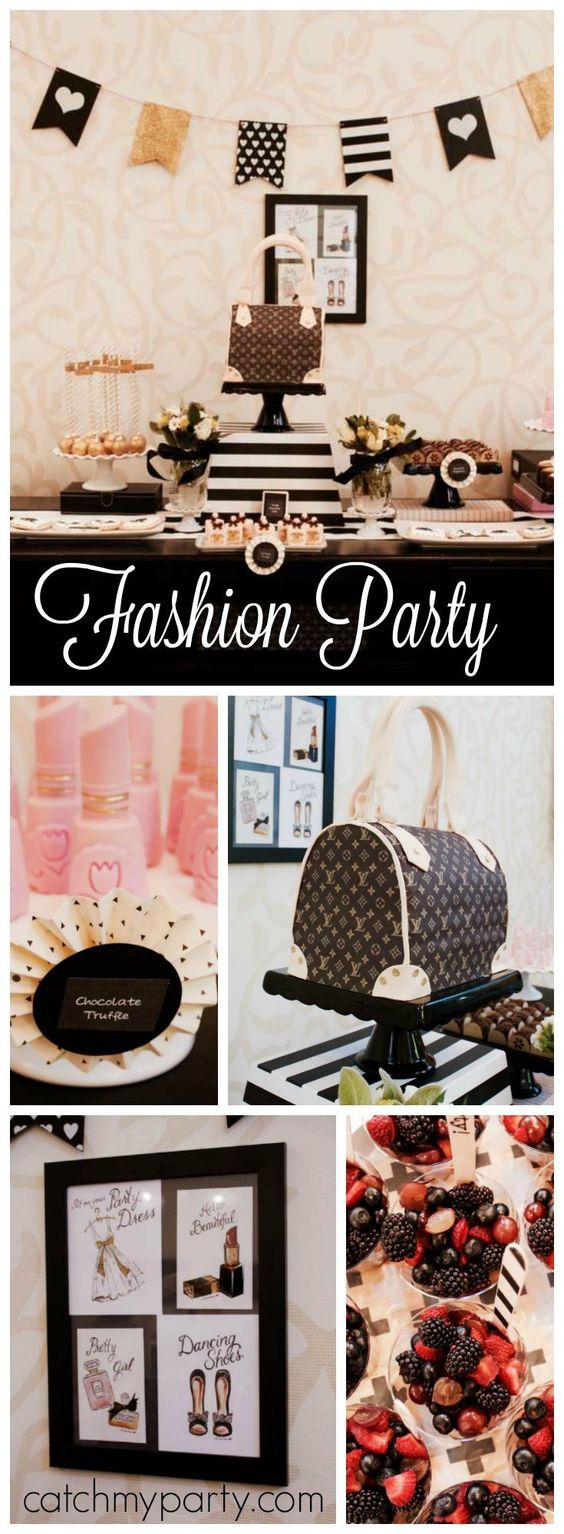 You have to see this dress up party with amazing fashion elements! See more party ideas at Catchmyparty.com!