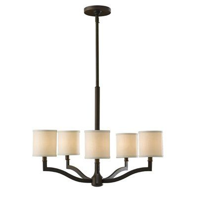 Murray Feiss F2519/5ORB 5 Light Stelle Chandelier, Oil Rubbed Bronze - Lighting Universe