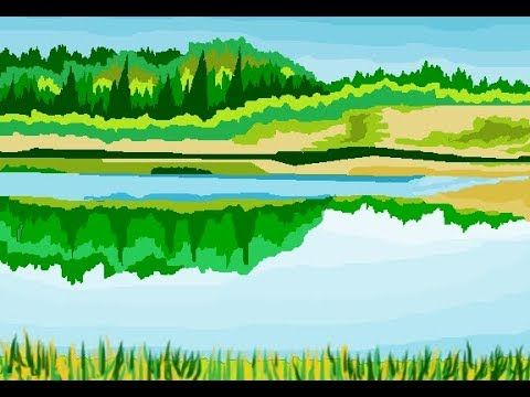 How To Draw A River Bed Scenery In Ms Paint Step By Step