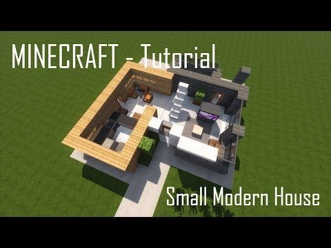 Minecraft Small Modern House Tutorial Interior Youtube Minecraft Small Modern House Small Modern Home Modern House