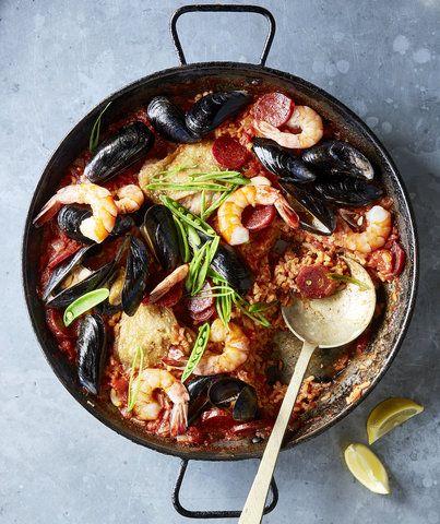 ... Chicken, and Shellfish Paella | Recipe | Paella, Chorizo and Mussels