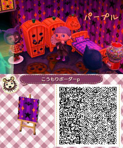 Spooky patterns Animal Crossing New Leaf QR Codes