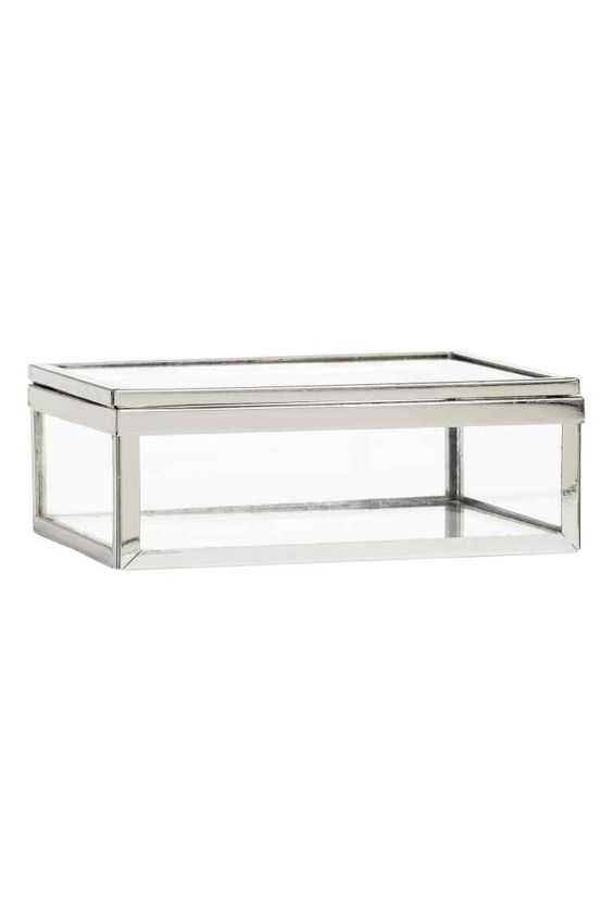 Bo te en verre petite bo te en verre transparent et m tal dimensions 5x9 5x - Petite boite en metal ...