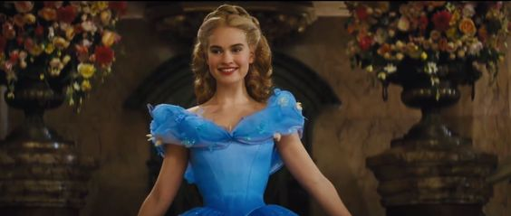 Lily James' 'Cinderella' Waist Was the Result of a Corset and Genetics  - ELLE.com