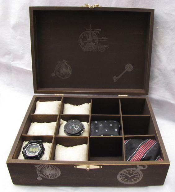 Caixa para relógio e/ou gravatas