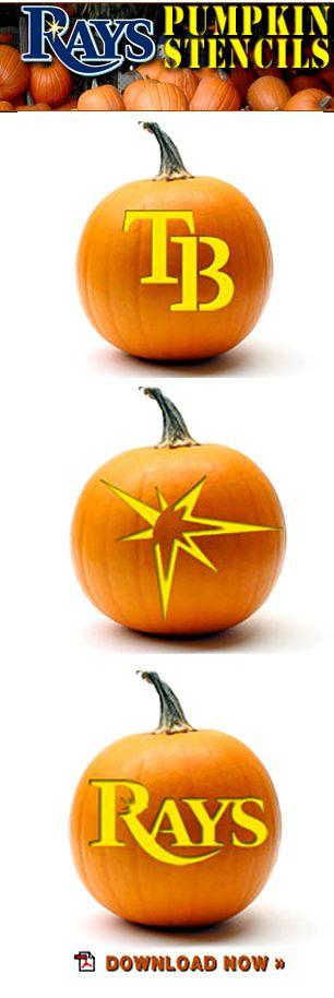 Rays Pumpkin Stencils To Downloadperfect Halloween Decoration BaseballBaseball RoomBaseball