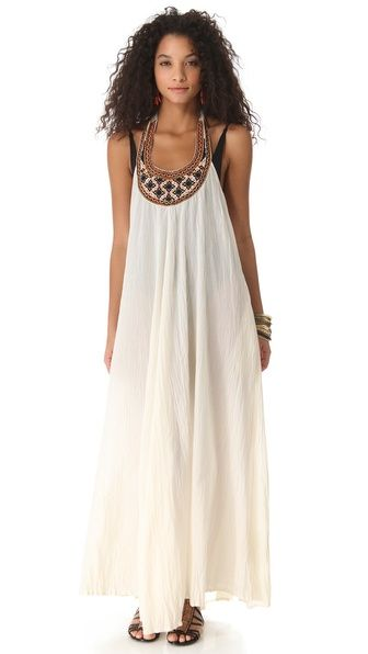 Shoshanna  Geo Embroidered Cover Up Maxi Dress -- hippie -- I'd add a big hat, sunnies and gold jewelry