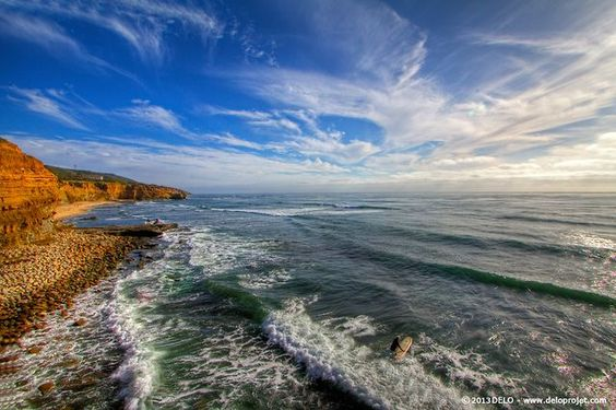 Sunset Cliffs, south California
