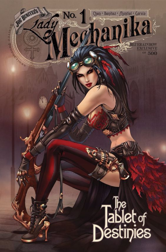 Lady Mechanika : The Tablet of Destinies #1 (BlueRainbow exclusive 1 of 500) by Dawn McTeigue