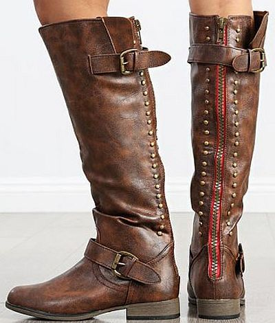 FIFI brown riding boots with zipper on back. These popular boots ...