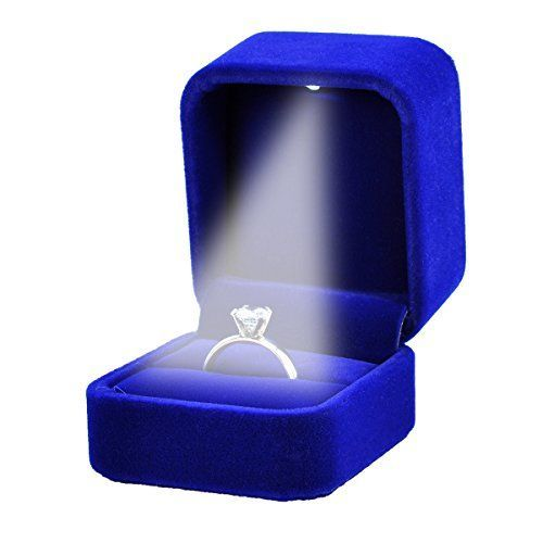 Necklace Ring Box Jewelry Holder Wedding Proposal Engagement Gift With LED Light