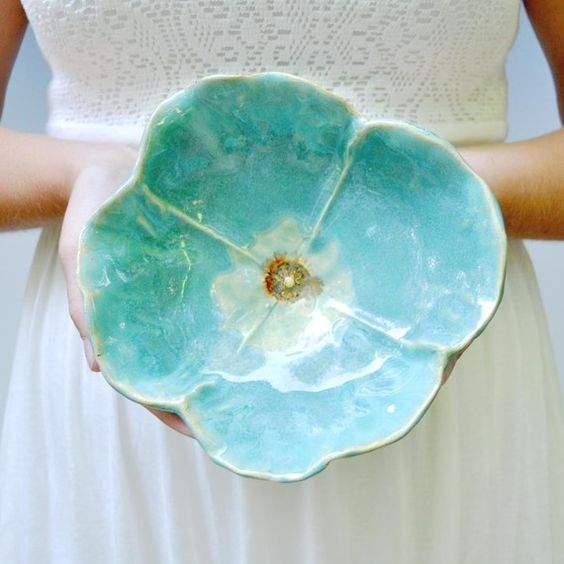 turquoise poppy bowl