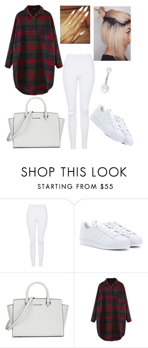 """""""Untitled #227"""" by millyandmolly ❤ liked on Polyvore featuring Topshop, adidas Originals and Michael Kors"""