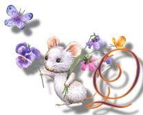 Alfabeto de ratitas con flores. | Oh my Alfabetos!