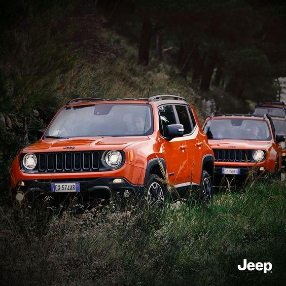 Prawdziwi przyjaciele będą wszędzie i zawsze podążać za Tobą.  #JeepLife #Renegade #JeepPeople