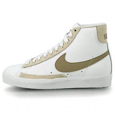 NIKE Blazer Mid (gs) 318705-121 Mens WHT/KHAK Sneakers SZ-4.5