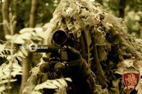 Serbian sniper in action